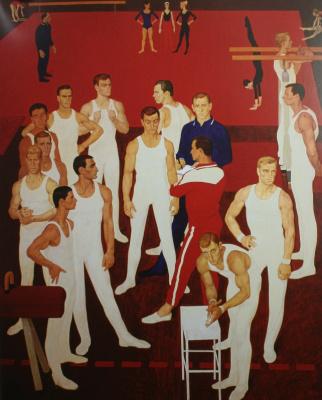 """Dmitry Dmitrievich Zhilinsky. """"Gymnasts of the USSR"""". 1964-1965"""
