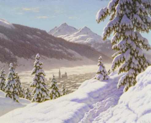 Ivan Fedorovich Schultze. Winter landscape in Davos