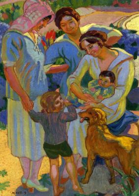 Морис Дени. Женщины с детьми