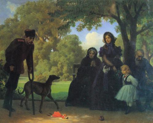 Артур Гротгер. Саксонский сад в Варшаве