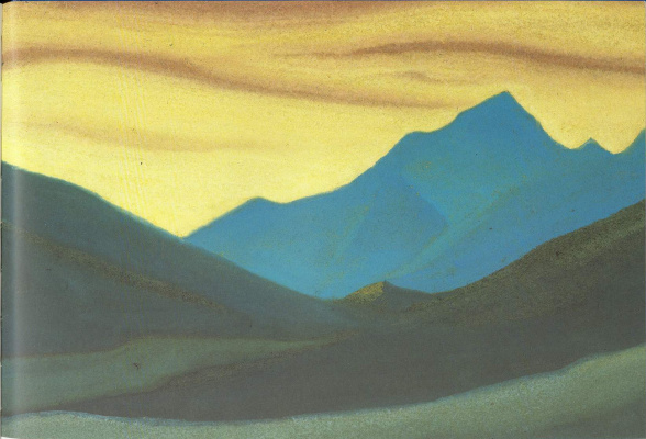 Nicholas Roerich. The Himalayas (Sunset colors)