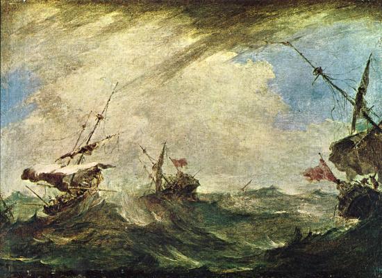 Франческо Гварди. Корабли в бурю