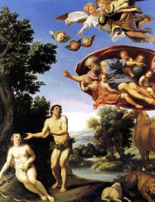 Доменикино . Адам и Ева