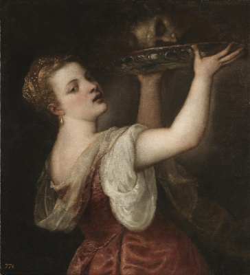 Titian Vecelli. Salome with the head of John the Baptist