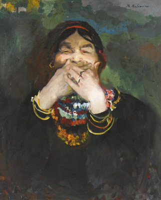 Filipp Andreevich Malyavin. The laughing woman