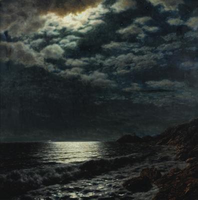 Иван Федорович Шультце. Море лунной ночью