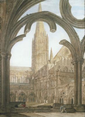 Джозеф Мэллорд Уильям Тёрнер. Южный вид на Солсберийский собор из клуатра