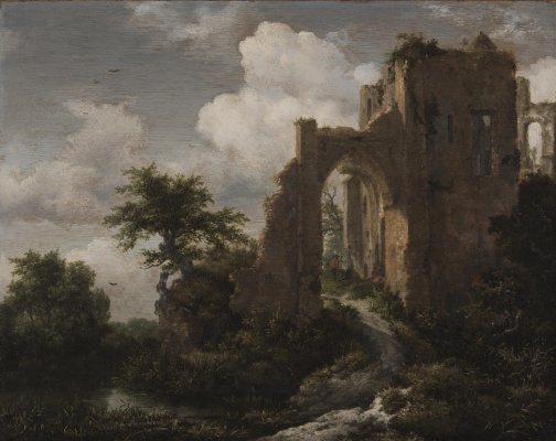 Jakob van Isaacs Ruisdael. Landscape with the Gate of Bridero Castle