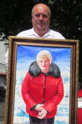 Vlad S. Zharkevich. Portrait of Alexander Ivanovich Grushevich's wife