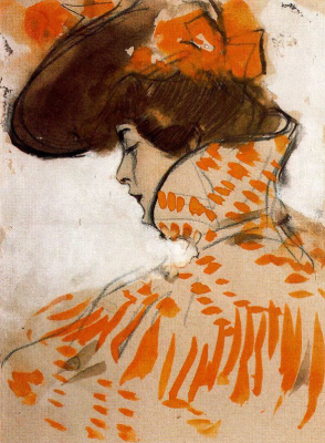 Ramon Casas i Carbó. Portrait of a young lady