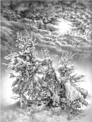 Гурам Николаевич Доленджашвили. Имфония зимы. Из серии «Лунные ночи Имеретии»