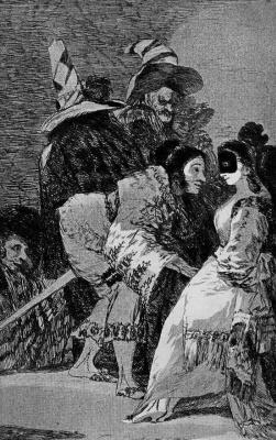 "Francisco Goya. ""Nobody knows anyone"" (Series ""Caprichos"", page 6)"