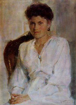 Michael Mikhailovich God Ukraine 1911 - 1990. Female portrait.
