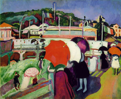 Raoul Dufy. Three umbrellas