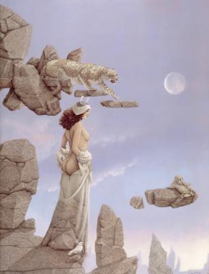 Michael Parkes. White dove