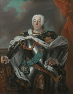 Луи де Сильвестр. Портрет короля Польского, курфюрста Саксонского и великого князя Литовского Августа III