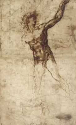 Микеланджело Буонарроти. Обнаженный мужчина