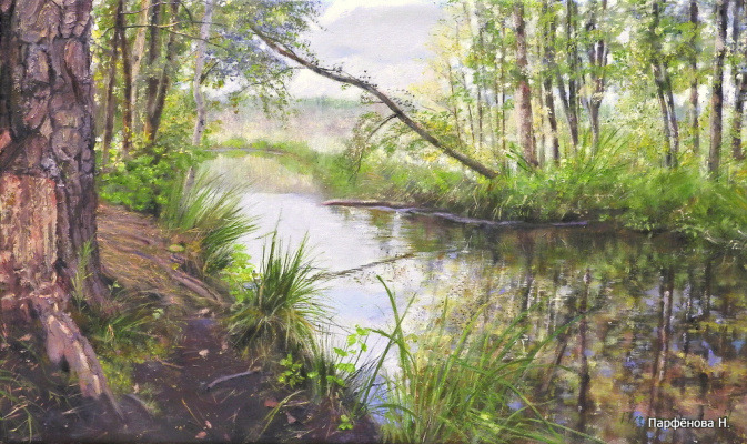 Natalia Parfenova. By the pond
