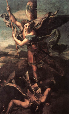 Raphael Santi. The Holy Archangel Michael and the Devil