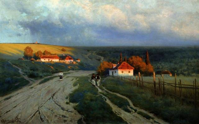 Konstantin Yakovlevich Kryzhitsky. Evening on the Ukraine