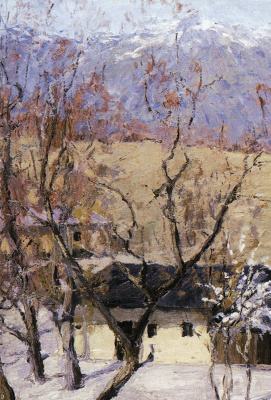 Isaac Levitan. Winter in the Crimea