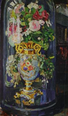 "Nikolay Ivanovich Shestopalov. ""Vase under a glass cover"" 1910s"