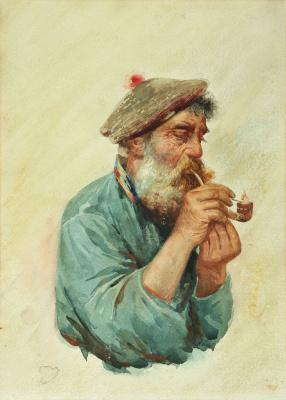 Лев Самойлович Бакст (Леон Бакст). Рыбак с курительной трубкой