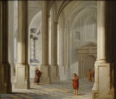 Дирк Ван Делен. Интерьер церкви