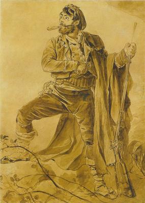 Karl Pavlovich Bryullov. Greek insurgent