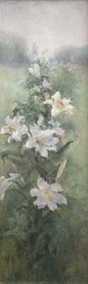 Wilhelm Kotarbinsky. White lilies
