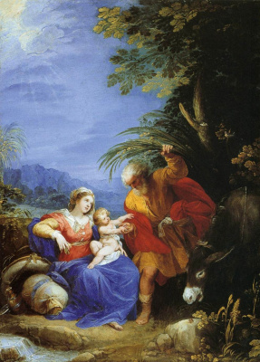 Cesari Giuseppe (Cavalier d'Arpino). Rest on the way to Egypt. About 1597