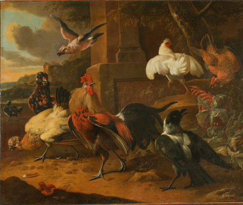 Melchior de Hondecuiter. Poultry yard