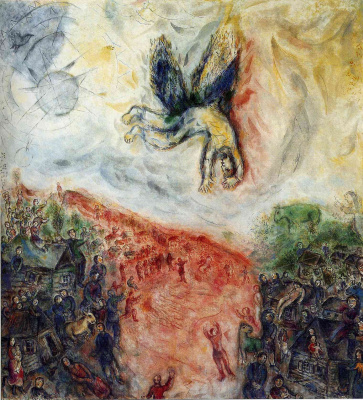 Marc Chagall. The Fall Of Icarus