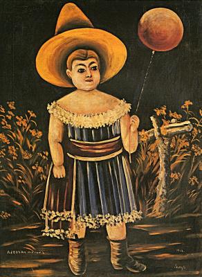 Niko Pirosmani (Pirosmanashvili). Girl with ball