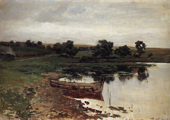 Isaac Levitan. By the river