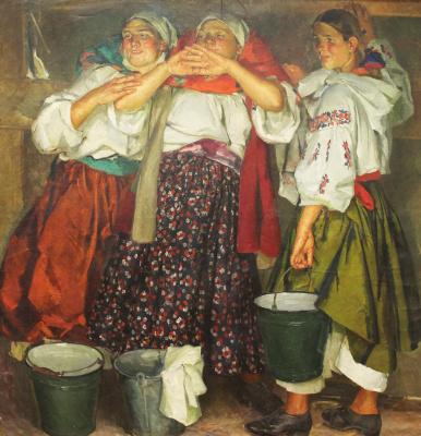 Fedor Grigorievich Krichevsky. Funny milkmaids