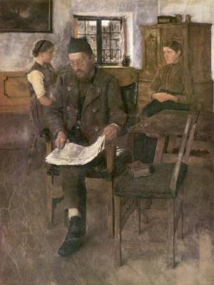 Wilhelm Maria Hubertus Label. The reader of Newspapers