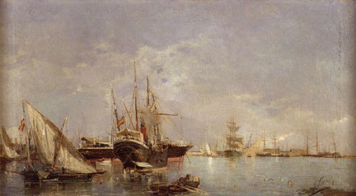 Joaquin Sorolla (Soroya). The Port Of Valencia