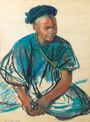 Zinaida Serebryakova. Portrait of a young Moroccan