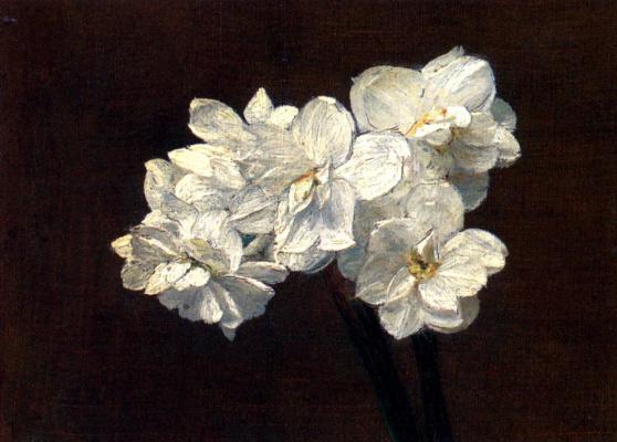 Victoria Duburg (Fantin-Latour). A bouquet of daffodils