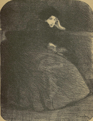 "Theophile-Alexander Steinlen. To the song ""Always You"". Illustration to the book by P. Delmas, ""Female songs"""