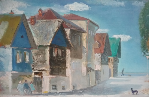 Anatoly Alekseevich Bolkhontsev. Town on the Volga