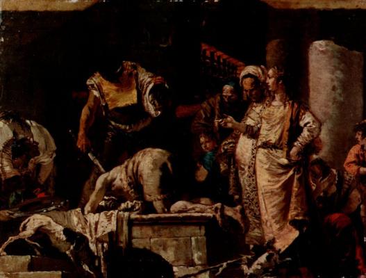 Джованни Доменико Тьеполо. Усекновение головы Иоанна Крестителя