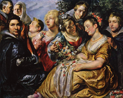 Jacob Jordaens. Self-portrait with the father-in-law family