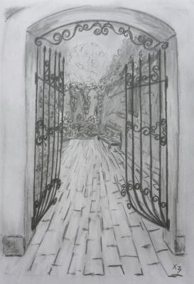 Сергей Николаевич Ходоренко-Затонский. Quiet courtyard