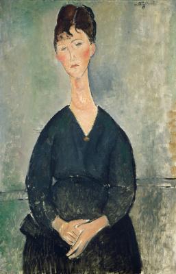 Amedeo Modigliani. Singer in a cafe