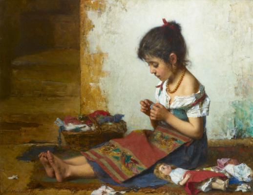 Alexey Alekseevich Kharlamov. Little seamstress.
