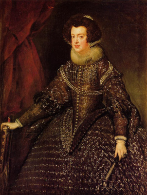 Diego Velazquez. Portrait of Queen Isabella of Bourbon