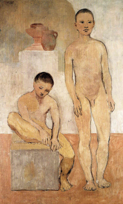 Pablo Picasso. The two young men