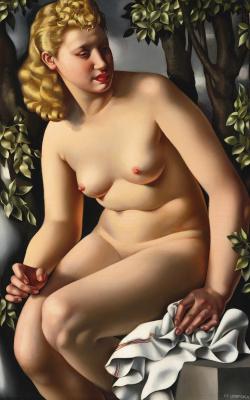 Tamara Lempicka. Susanna in the bath